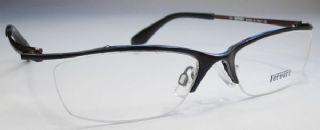 Ferrari ครึ่งกรอบแว่นตา Stainless Frame สีดำ  ขาแว่นสีน้ำตาล