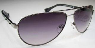 TOD'S กรอบแว่นกันแดด  Stainless Frame สีรมดำ  เลนส์ไล่สีม่วง