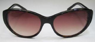 CHANEL กรอบแว่นกันแดด Aetate Frame สีน้ำตาลกระ เลนส์ไล่สีน้ำตาล