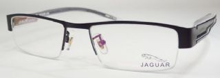 JAGUAR  ครึ่งกรอบแว่นตา Stainless สีดำ ขาแว่นสีดำ