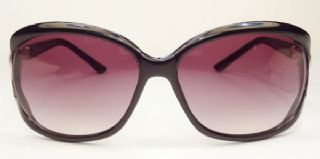 VERSACE กรอบแว่นกันแดด Acetate Frame สีดำ  เลนส์ไล่สีม่วง