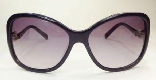 Salvatore Ferragamo กรอบแว่นกันแดด  Acetate Frame สีดำ เลนส์ไล่สีม่วงอ่อน