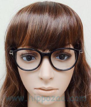 TOM FORD กรอบแว่นตา Acetate Frame สีดำ ขาแว่นสีดำ
