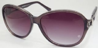 MONT BLANC กรอบแว่นกันแดด Acetate Frame สีเทากึ่งใส เลนส์ไล่สีม่วง