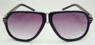 GUCCI  กรอบแว่นกันแดด Acetate Frame สีดำ เลนส์ไล่สีม่วง