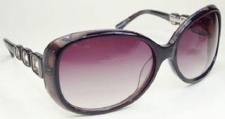Christian Dior กรอบแว่นกันแดด Acetate Frame สีดำกึ่งใส เลนส์ไล่สีม่วง