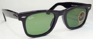 RAY-BAN  RB2140 901 WAYFARER  กรอบแว่นกันแดดสีดำ เลนส์สีเขียว