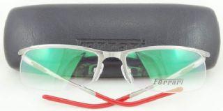 Ferrari ครึ่งกรอบแว่นตา Stainless Frame สีรมควัน ขาแว่นสีรมควัน