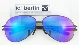 ic! berlin model raf s. metal sheet frame black เลนส์สีเทาเคลือบปรอทน้ำเงิน-ม่วง