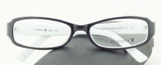 PLAYBOY กรอบแว่นตา Acetate Frame สีทูโทนดำ/ขาว ขาแว่นสีดำ