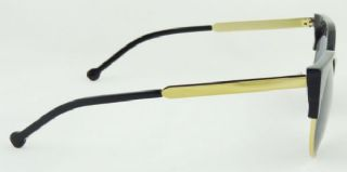SUPER กรอบแว่นกันแดดสีดำ  เลนส์สีเทา