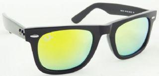 RAY-BAN  RB2140 901/18 WAYFARER  กรอบแว่นกันแดดสีดำ เลนส์สีฟ้าฉาบปรอทสีเหลือง