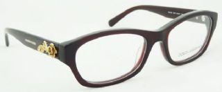 D&G กรอบแว่นตา  Acetate Frame สีไวน์แดง ขาแว่นสีไวน์แดง