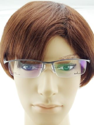 bL eyewear ครึ่งกรอบแว่นตา frame gun metal