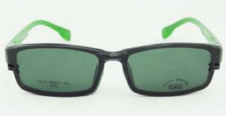PLAY MOUSE F5114 TR90 กรอบแว่นตาสีดำ ขาแว่นสีเขียว/ดำ