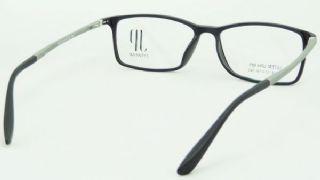 JP EYEWEAR TR90 frame กรอบแว่นตาสีดำด้าน ขาแว่นสีเทาด้าน