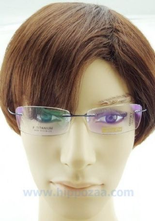 BAI DA BETA TITANIUM  ไร้กรอบแว่นตาสีน้ำเงิน ขาแว่นสีน้ำเงิน