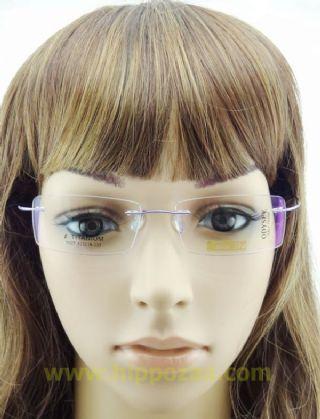 BAI DA BETA TITANIUM  ไร้กรอบแว่นตาสีม่วง ขาแว่นสีม่วง