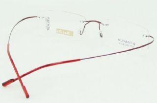BAI DA BETA TITANIUM  ไร้กรอบแว่นตาสีแดง ขาแว่นสีแดง