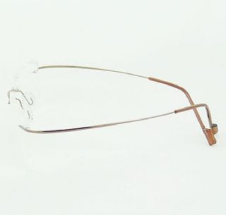 BAI DA BETA TITANIUM  ไร้กรอบแว่นตาสีน้ำตาลอ่อน ขาแว่นสีน้ำตาลอ่อน