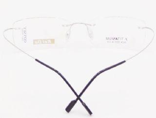 BAI DA BETA TITANIUM  ไร้กรอบแว่นตาสีเงิน ขาแว่นสีเงิน