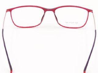 KANITO กรอบแว่นตา TR90 สีไวน์แดง ขาแว่นสีชมพูเข้มด้าน