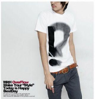 เสื้อผ้าผู้ชาย : t-shirt casul พิมพ์ !?