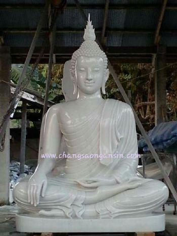 พระพุทธรูปหินหยกขาว