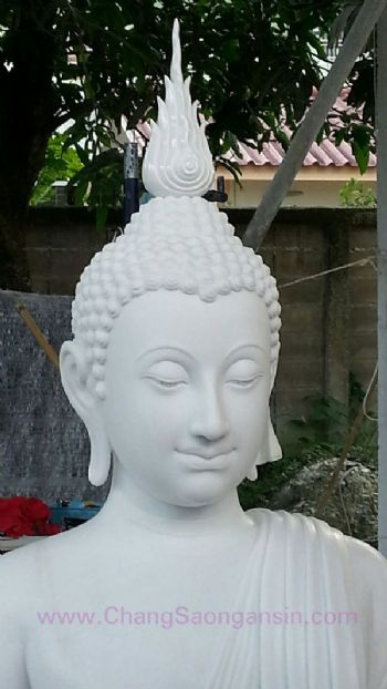 พระพุทธรูป(แกะสลักหินขาว)