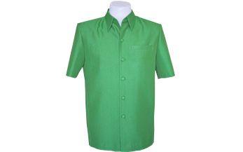 เสื้อผ้าฝ้ายลายลูกแก้วสีเขียวสด