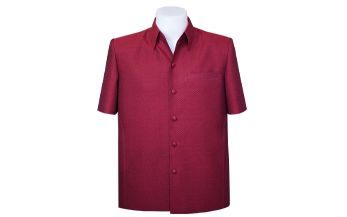 เสื้อผ้าฝ้ายลายลูกแก้วสีแดง