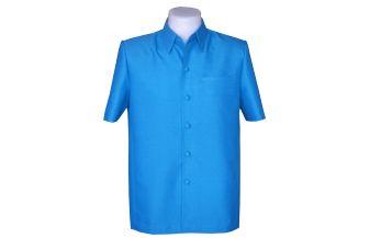 เสื้อสูทชายลายลูกแก้วสีฟ้าเข้ม