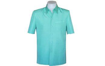 เสื้อผ้าฝ้ายทอมือผ้าพื้นสีเขียวอ่อน