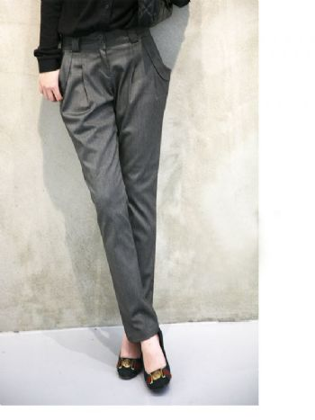 เสื้อผ้าแฟชั่นพร้อมส่ง :  กางเกงสแลคทรงเท่สไตล์เกาหลี