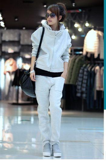 เสื้อกันหนาวพร้อมส่ง : ชุดเซ็ท sport wear ด้านในเสริม velvet