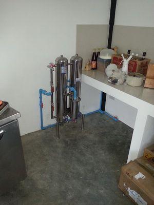 เครื่องกรองน้ำแสตนเลส 3 ท่อ