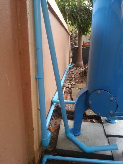 ติดตั้งถังกรองน้ำขนาด 40x120