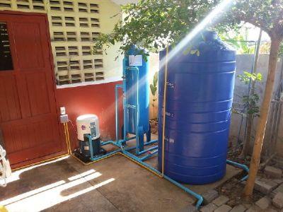 ติดตั้งถังกรองน้ำพร้อมเดินระบบ