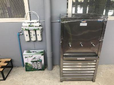 ตู้น้ำเย็น+เครื่องกรองน้ำดื่ม