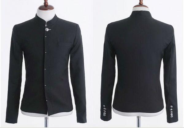 เสื้อผ้าผู้ชาย :  เสื้อนอกคอจีนแฟชั่นเกาหลี
