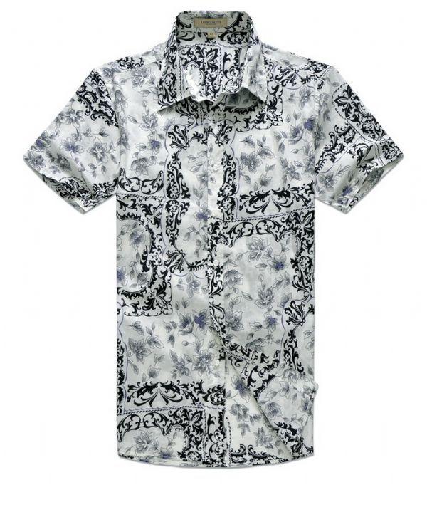 เสื้อผ้าผู้ชาย : เสื้อเชิร์ตแขนสั้น wild flower