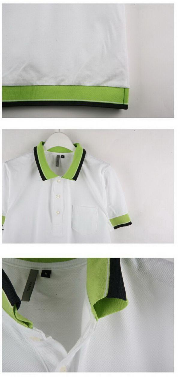 เสื้อผ้าผู้ชาย : เสื้อ polo แต่งขลิบเขียวแอปเปิล