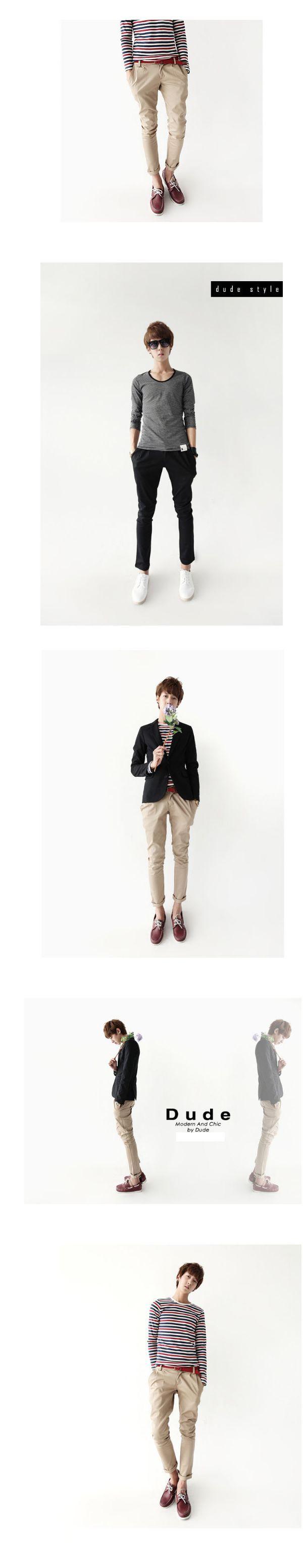 เสื้อผ้าผู้ชาย : กางเกงโมเดิร์นขาเดฟ chic