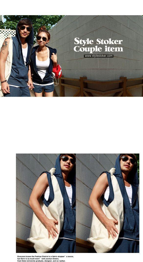 เสื้อผ้าผู้ชาย : แจ๊กเก็ตคู่รักแขนสั้นพร้อมฮูด