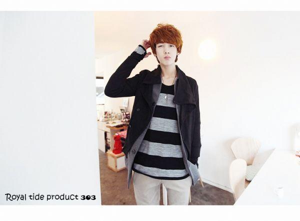เสื้อผ้าผู้ชาย : เสื้อ cardigan สไตล์เกาหลี