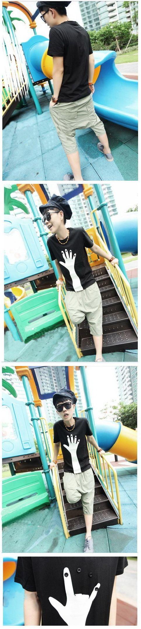 เสื้อผ้าผู้ชาย : เสื้อยืด fake finger
