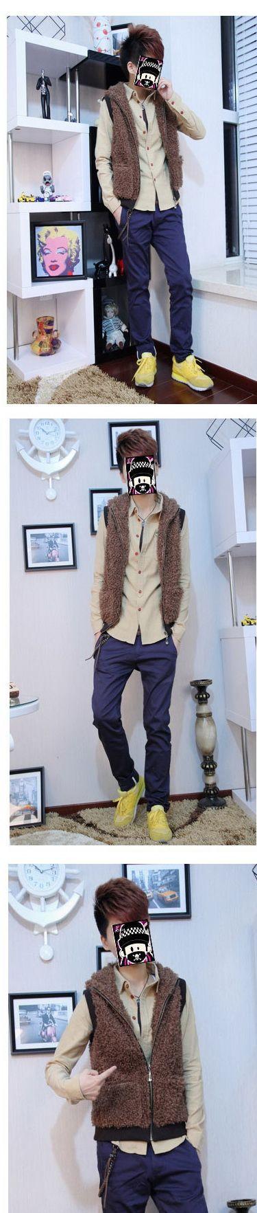เสื้อผ้าผู้ชายพร้อมส่ง : เสื้อกั๊กขน fur