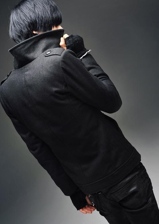 เสื้อกันหนาวผู้ชาย : แจ๊คเก็ต wool double breast