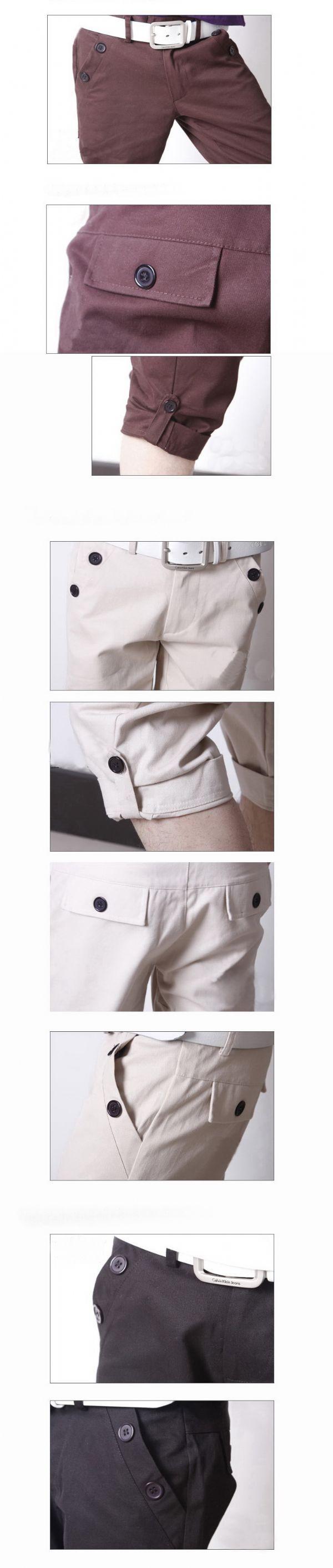 เสื้อผ้าผู้ชาย: กางเกง casual สามส่วนเอวต่ำ