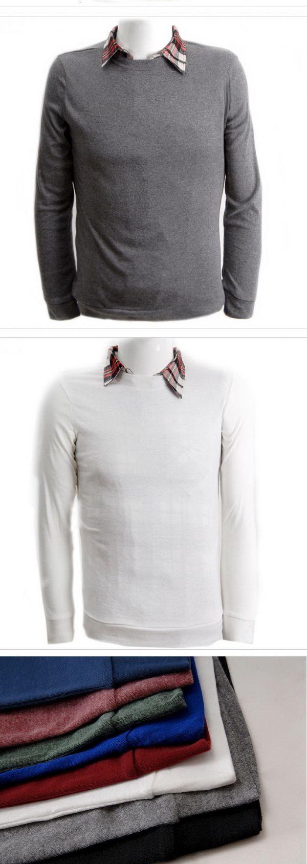 เสื้อกันหนาวผู้ชายพร้อมส่ง : สเวตเตอร์แขนยาวคอกลม slim style